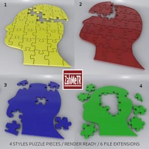 puzzle_head_3d_model_3ds_max_c4d